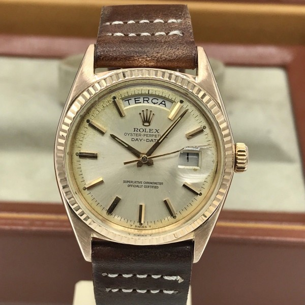 1964 Vintage Rolex Day Date 1803 Solid 18k Rose Pink Gold With Box