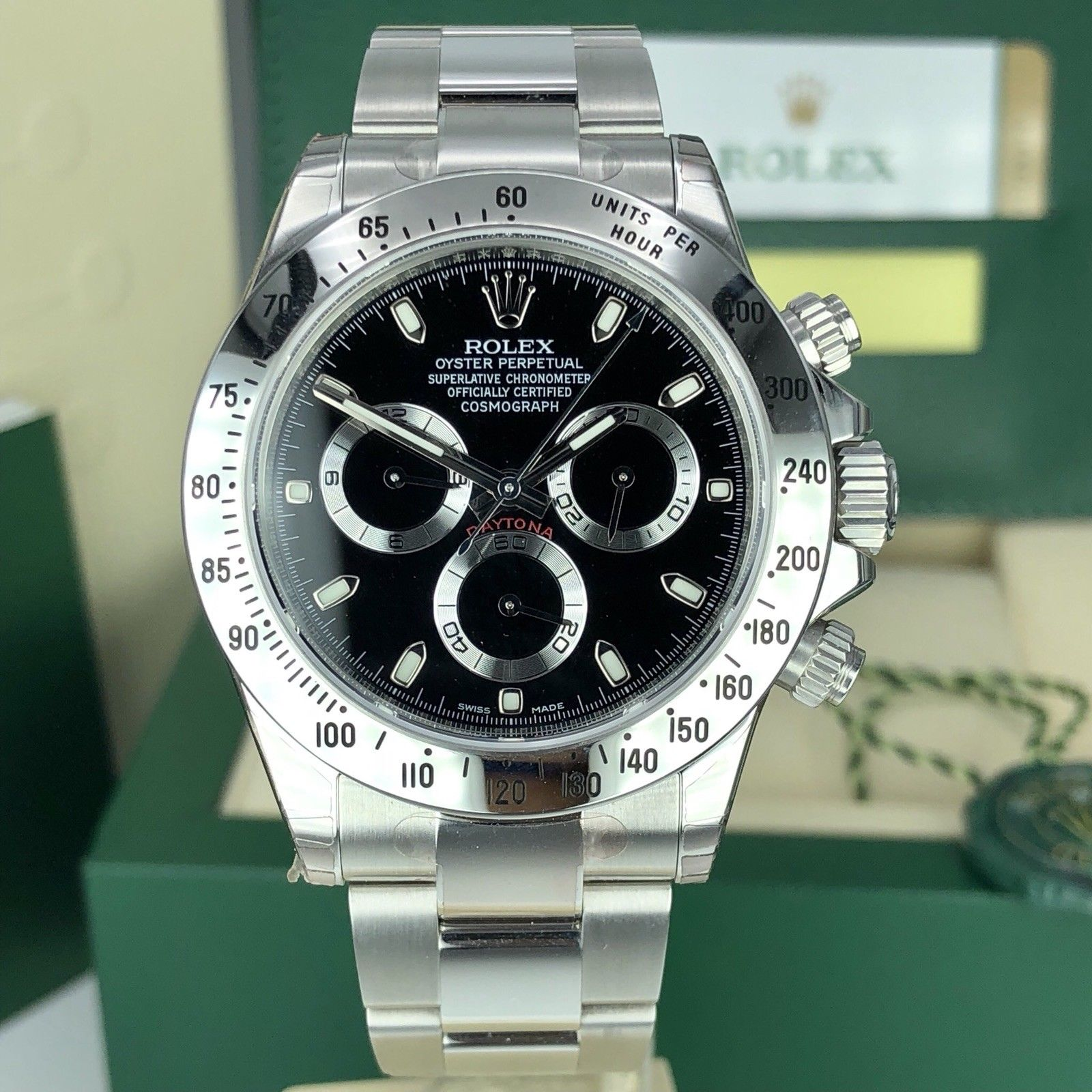 2018 rolex daytona 116520 discontinued nos full stickers. Black Bedroom Furniture Sets. Home Design Ideas