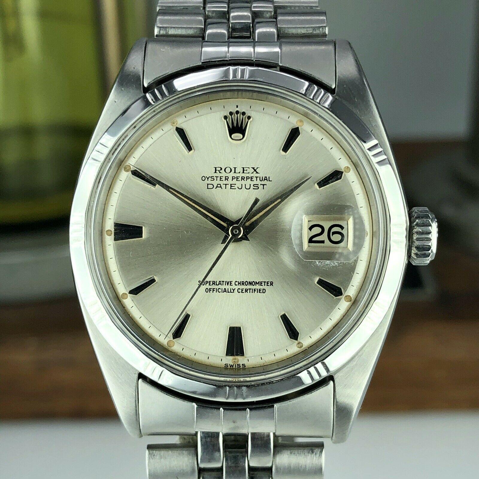 1960 Vintage Rolex Datejust 1603 Radium Dial Bamboo Bezel